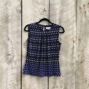 Calvin Klein | blue ruched neck tank top